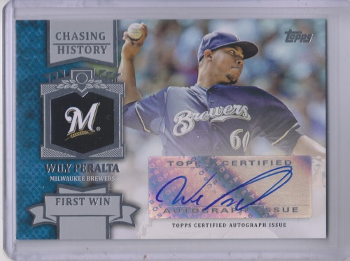 Photo of 2013 Topps Chasing History Autographs #WP Wily Peralta S2