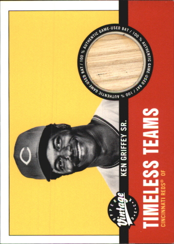 Photo of 2001 Upper Deck Vintage Timeless Teams #CI2KG Ken Griffey Sr. Bat