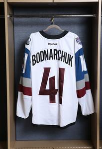 Andrew Bodnarchuk Colorado Avalanche Game Worn Stadium Series Jersey