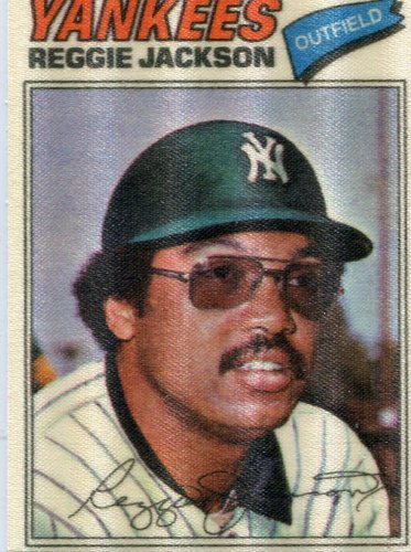 Photo of 1977 Topps Cloth Stickers #22 Reggie Jackson