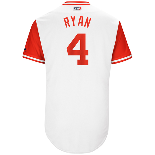 "Photo of Scooter ""Ryan"" Gennett Cincinnati Reds Game-Used Players Weekend Jersey"