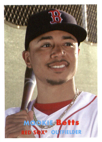 Photo of 2015 Topps Archives #86 Mookie Betts -- Red Sox post-season
