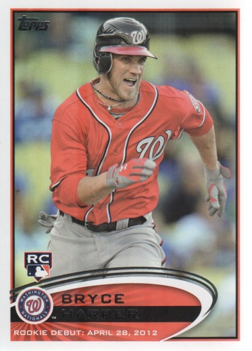 Photo of 2012 Topps Update #US183 Bryce Harper Rookie Card  -- Nationals post-season
