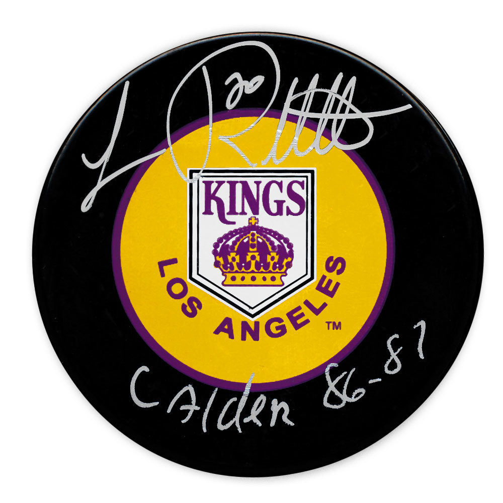 Luc Robitaille Los Angeles Kings Calder 86/87 Autographed Puck