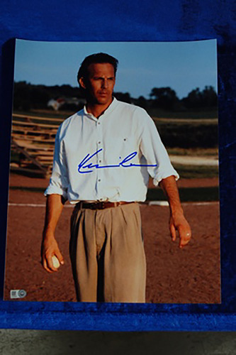 Photo of Kevin Costner Autographed Field of Dreams Vertical Photo