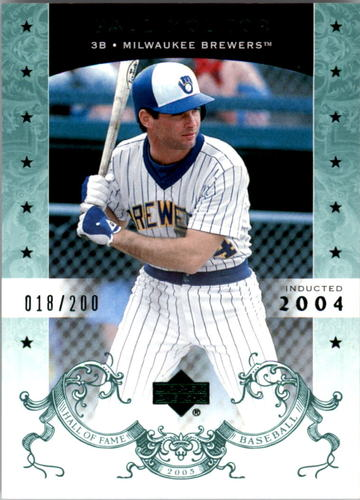 Photo of 2005 Upper Deck Hall of Fame Green #55 Paul Molitor