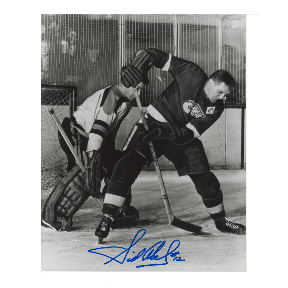 SID ABEL Signed Detroit Red Wings 8 X 10 Photo - 70005