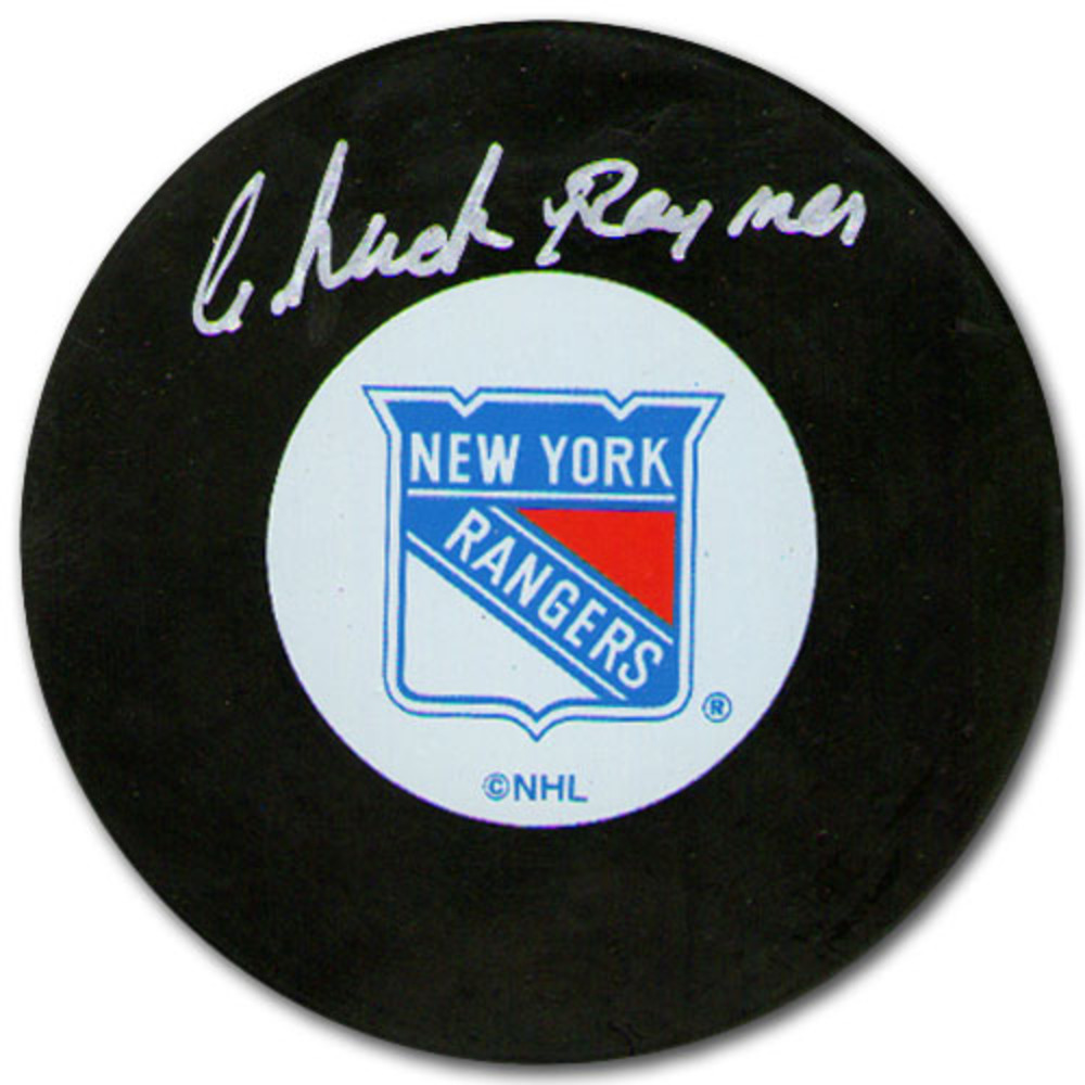 Chuck Rayner Autographed New York Rangers Puck