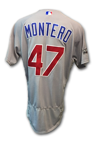 Photo of Miguel Montero Game-Used Jersey -- Cubs at Dodgers -- NLCS Game 4 -- 10/19/16 and NLCS Game 5 -- 10/20/16