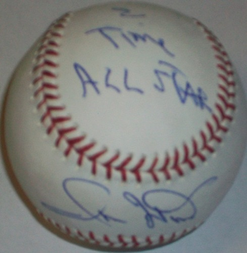 "Photo of Ron Hunt ""2X AS"" Autographed Baseball"