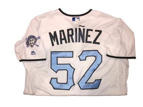 Photo of Jhan Marinez Game-Used Father's Day Weekend Jersey - Worn on 6/17 & 6/18