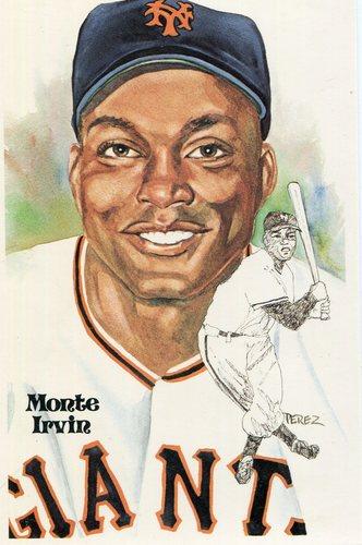 Photo of 1980-02 Perez-Steele Hall of Fame Postcards #137 Monte Irvin -- Set #08689