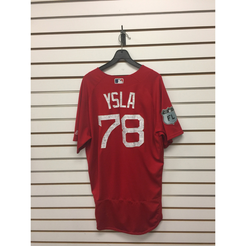 Photo of Luis Ysla Team-Issued 2017 Spring Training Jersey