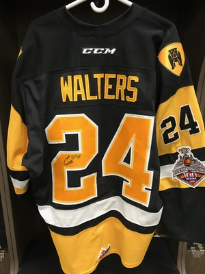 CONNOR WALTERS GAME WORN & SIGNED JERSEY