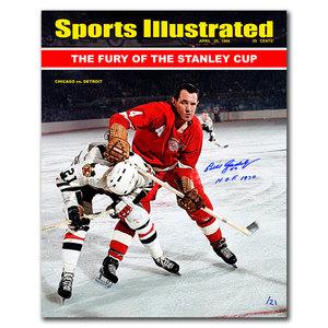 Bill Gadsby SI Detroit Red Wings vs. Mikita Autographed 16x20 LTD/21
