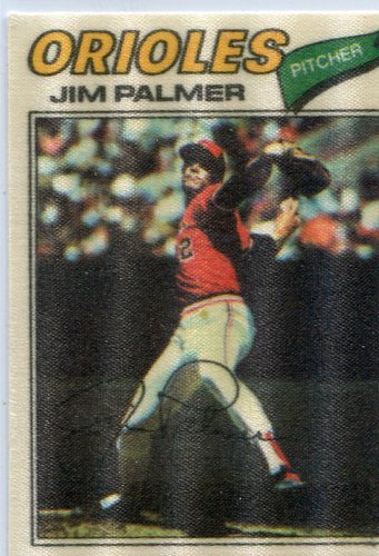 Photo of 1977 Topps Cloth Stickers #36 Jim Palmer short print
