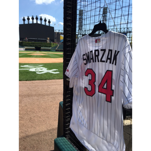 Photo of Anthony Swarzak Game-Used 2017 Mother's Day Jersey - Size 48