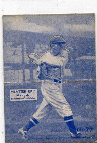 Photo of 1934-36 Batter-Up #77 Heinie Manush -- Hall of Famer