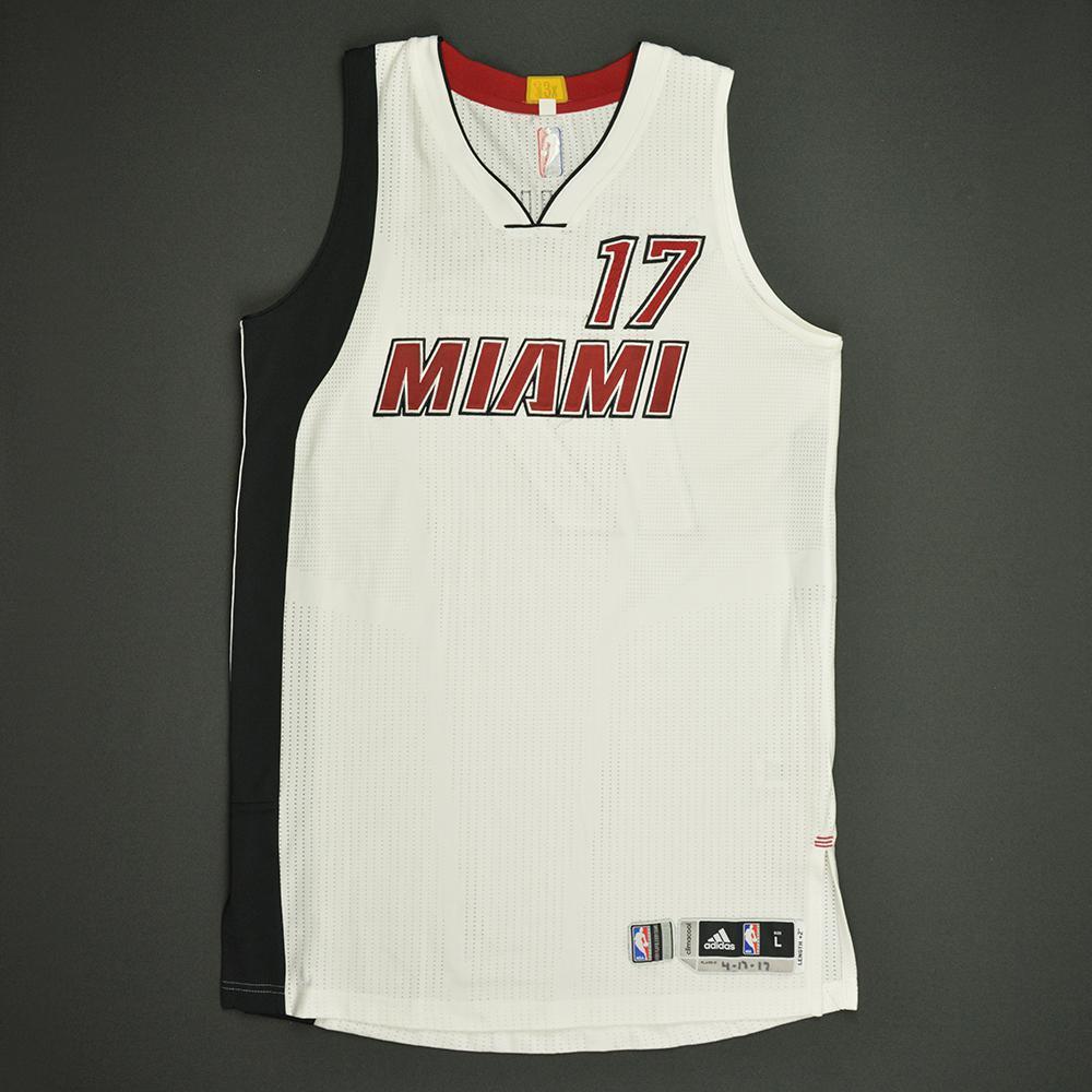 Rodney McGruder - Miami Heat - Game-Worn White Alternate Jersey - 2016-17 Season