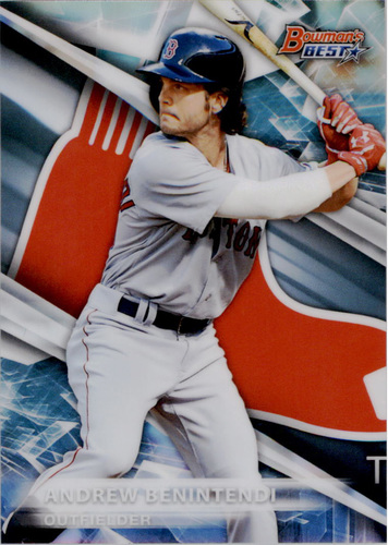 Photo of 2016 Bowman's Best Top Prospects Refractors #TP29 Andrew Benintendi -- Red Sox post-season