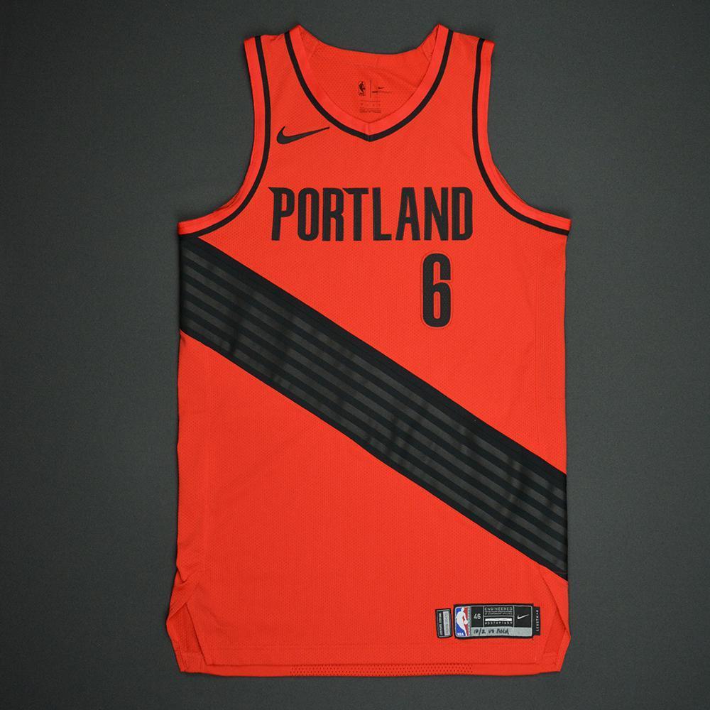 Shabazz Napier - Portland Trail Blazers - Statement Game-Worn Jersey - 2017-18 Season