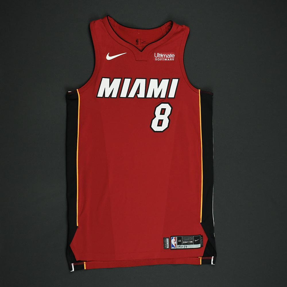 Tyler Johnson - Miami Heat - Game-Worn 'Statement' Jersey - 2017-18 Season