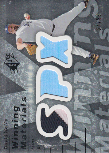 Photo of 2007 SPx Winning Materials 99 Silver #WE David Wells/99