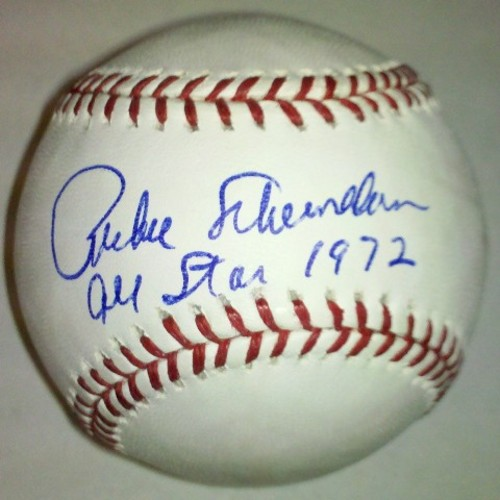 "Photo of Richie Scheinblum ""All Star 1972"" Autographed Baseball"