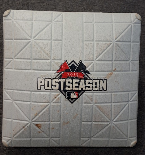 Photo of Authenticated Game Used Base - ALDS Game 5 3rd Base for Innings 8 and 9 (Oct. 14, 2015 vs TEX). Osuna records save to advance to ALCS.