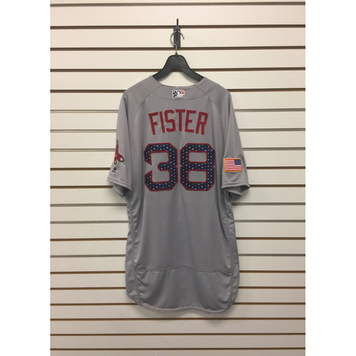 Photo of Doug Fister Team-Issued 2017 Stars and Stripes Jersey
