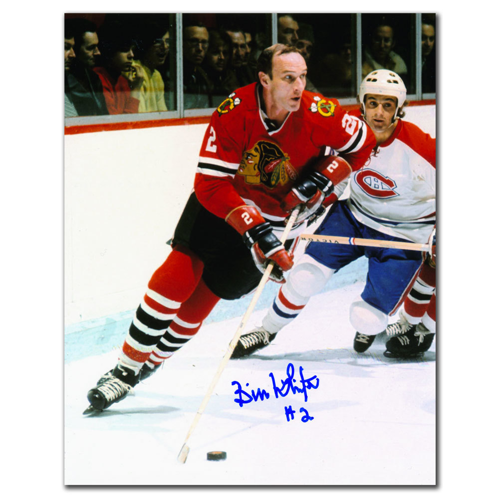 Bill White Chicago Blackhawks Autographed 8x10