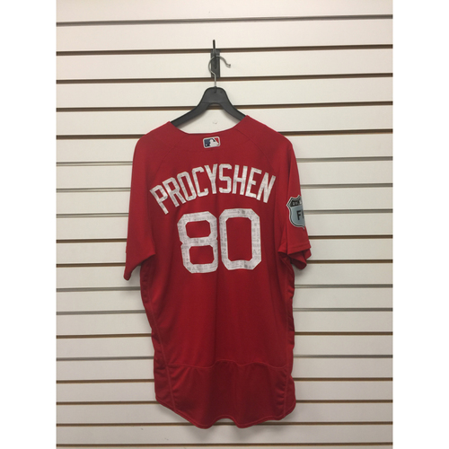 Photo of Jordan Procyshen Team-Issued 2017 Spring Training Jersey