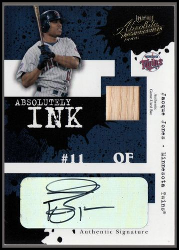Photo of 2005 Absolute Memorabilia Absolutely Ink Swatch Single #118 Jacque Jones Bat/45