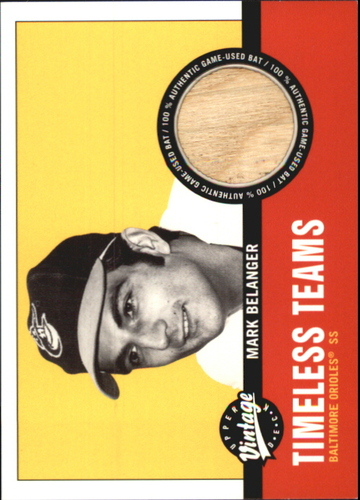 Photo of 2001 Upper Deck Vintage Timeless Teams #BAMB Mark Belanger Bat