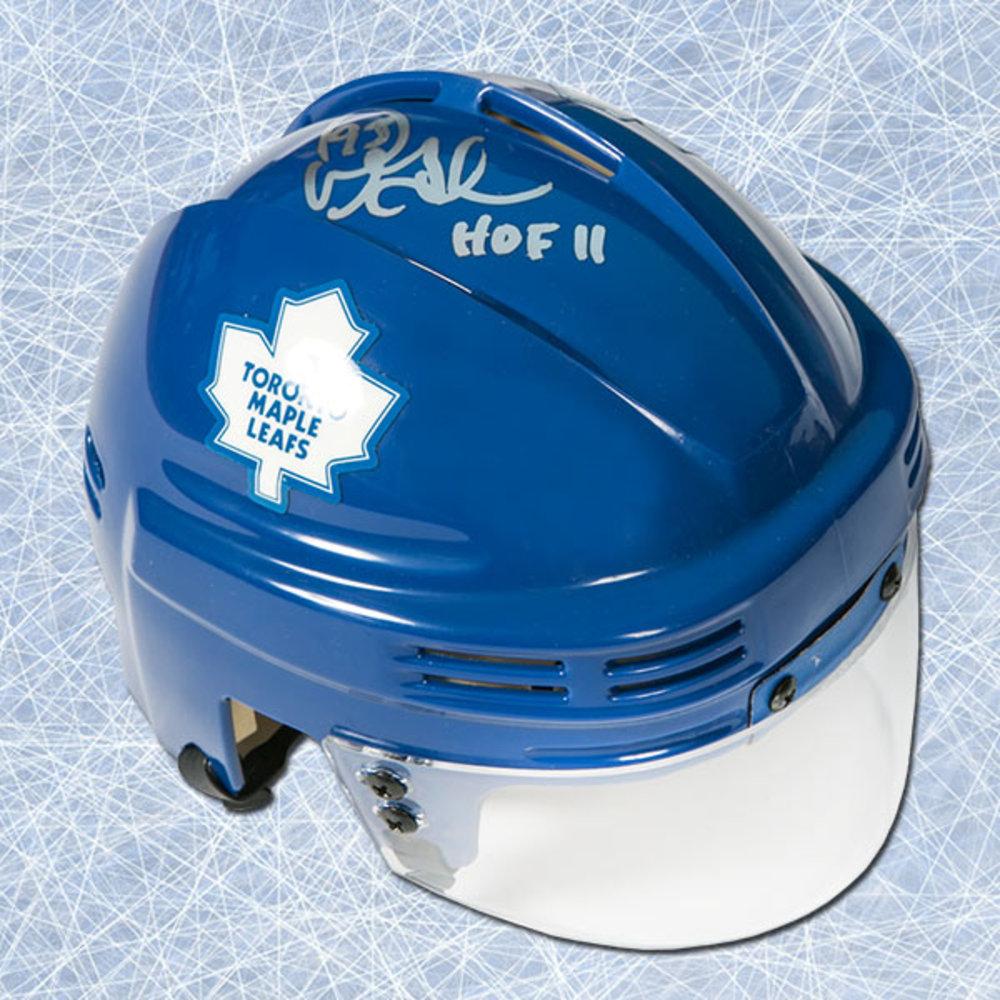 Doug Gilmour Toronto Maple Leafs Autographed Mini Helmet