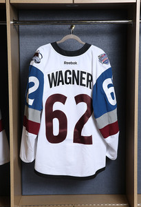 Chris Wagner Colorado Avalanche Game Issued Stadium Series Jersey