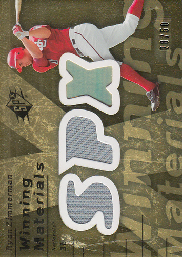 Photo of 2007 SPx Winning Materials Dual Gold #RZ Ryan Zimmerman/50