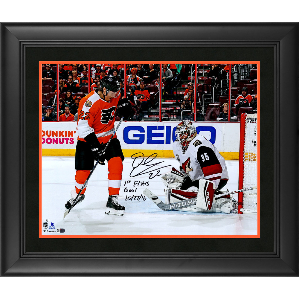 Dale Weise Philadelphia Flyers Framed Autographed 16