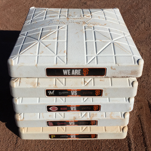 Photo of San Francisco Giants - 2017 Game-Used Base - NL Central Teams