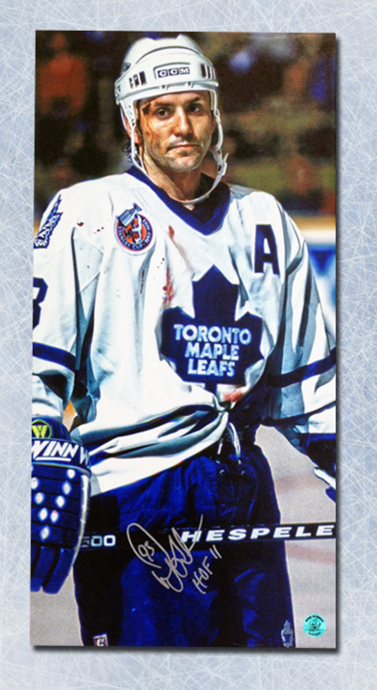 Doug Gilmour Toronto Maple Leafs Autographed Bloody Warrior 14x28 Art Canvas