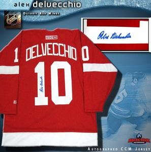ALEX DELVECCHIO Signed Detroit Red Wings Red CCM Jersey