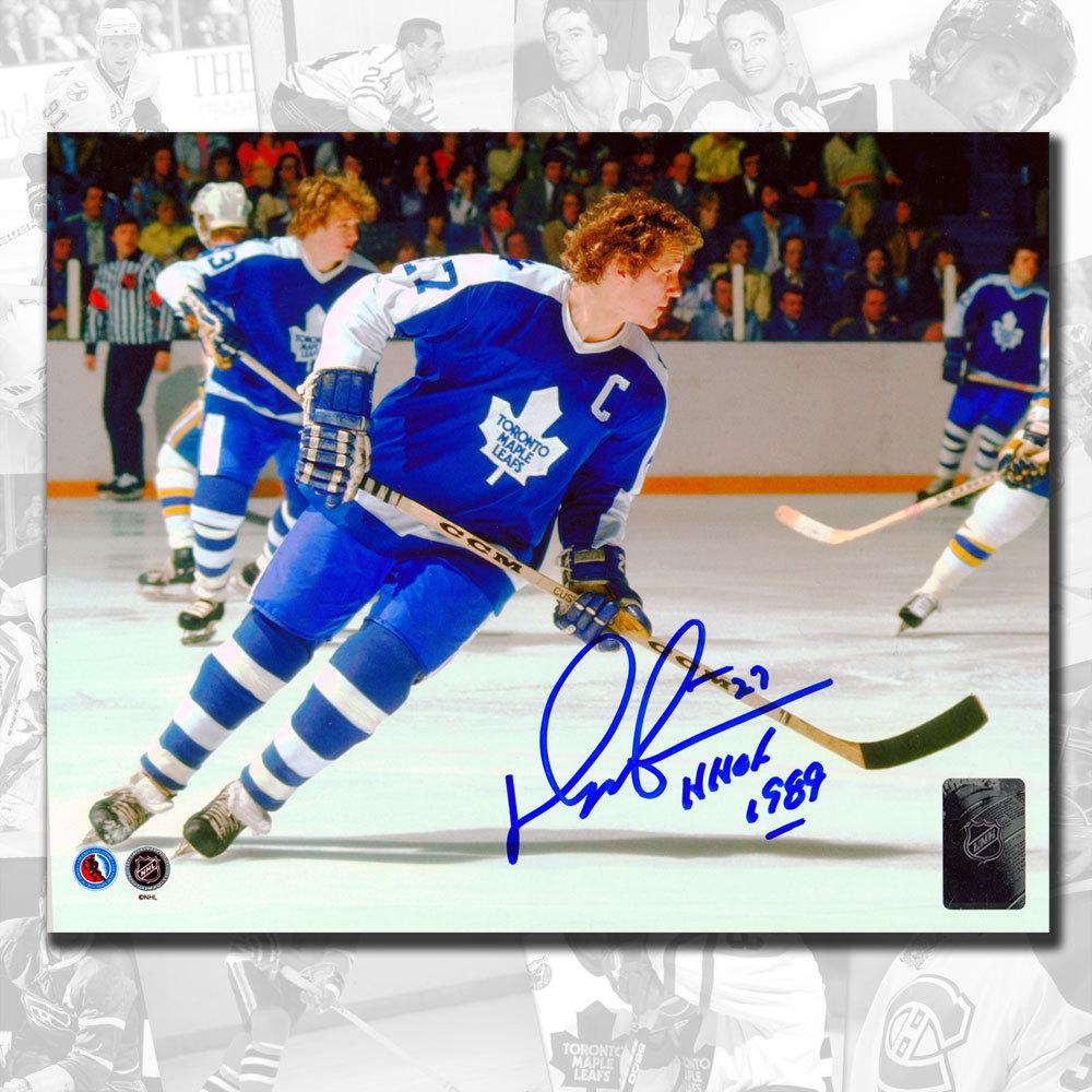 Darryl Sittler Toronto Maple Leafs HOF Autographed 8x10