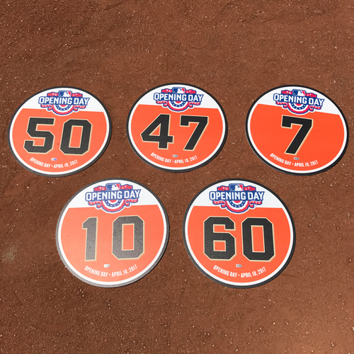 Photo of San Francisco Giants - 2017 Opening Day Player Field Marker