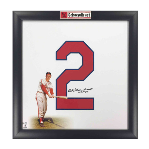 Cardinals Authentics: Red Schoendienst Autographed Retired Numbers Collection