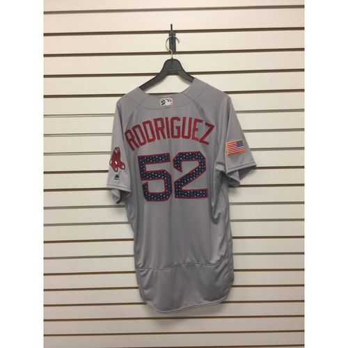 Photo of Eduardo Rodriguez Team-Issued 2017 Stars and Stripes Jersey