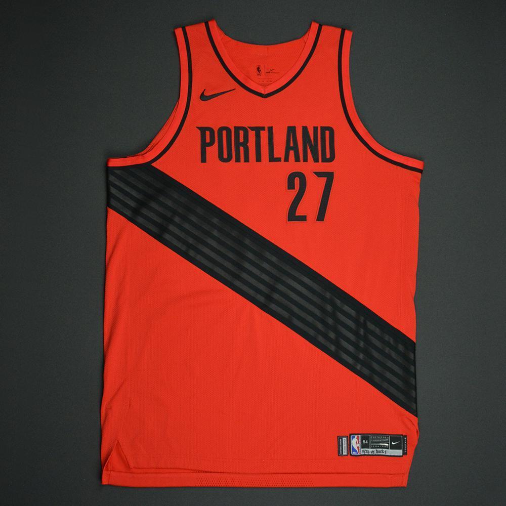 Jusuf Nurkic - Portland Trail Blazers - Statement Game-Worn Jersey - Double-Double - 2017-18 Season