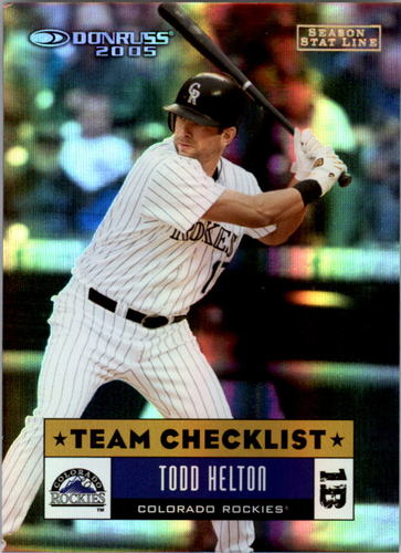 Photo of 2005 Donruss Stat Line Season #380 Todd Helton TC/68