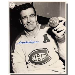 Bernie Geoffrion (deceased) Autographed Montreal Canadians 8x10 Photo