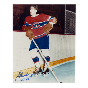 ELMER LACH Signed Montreal Canadiens 8 X 10 Photo - 70011