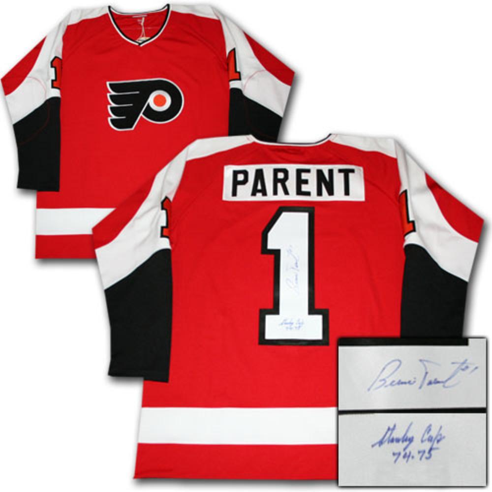Bernie Parent Autographed Vintage Mitchell & Ness Philadelphia Flyers Pro Jersey w/